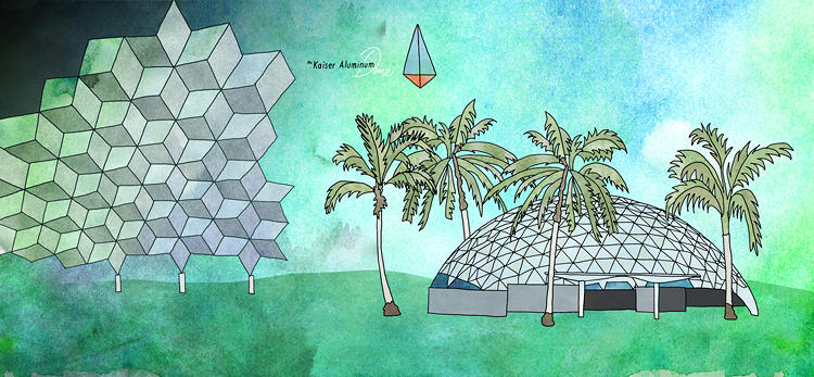 <p>Cole Gerst, an artist and designer from Portland, spent the last year creating <em>Buckminster Fuller: Poet of Geometry</em>, an illustrated book celebrating the visionary architect.</p>
