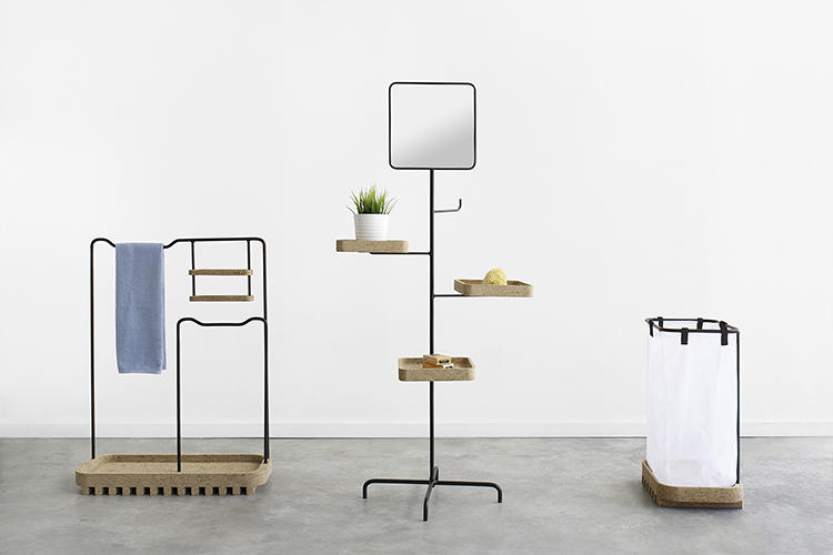 <p>Rui Pereria and Ryosuke Fukusada collaborated on the Bug Collection, a series of bathroom furniture characterized by cork trays and thin metal frames.</p>