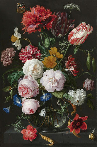 <p><em>Still life with flowers and glass vase</em> by Jan Davidszn. de Heem, 17th Century.</p>