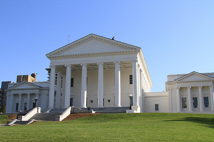 <p>Thomas Jefferson's design for Virginia's capitol established neoclassical architecture as the building style for the new democracy's civic structures.</p>