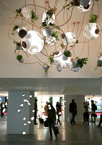 <p>Omer Arbel's 38 series of handblown pendants are a unique hybrid--lighting fixture and planter.</p>