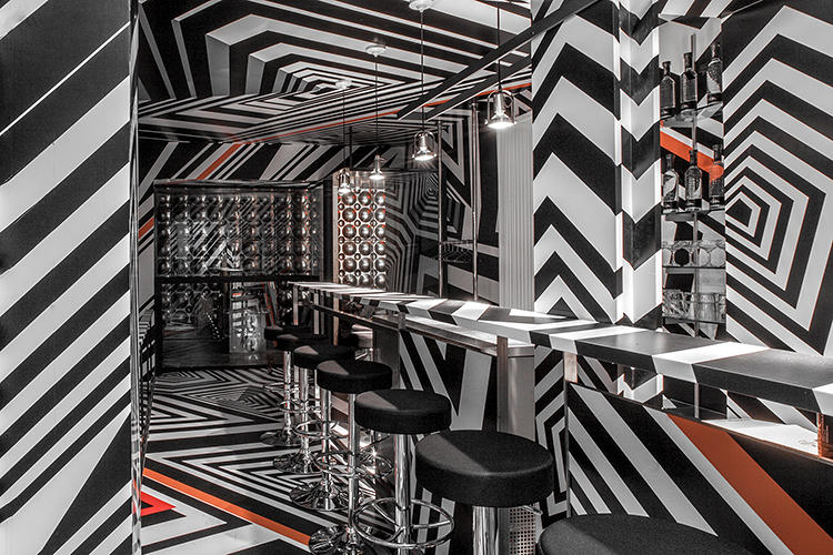 <p>For Frieze Art Fair, German artist Tobias Rehberger reinvented his favorite Frankfurt bar, Bar Oppenheimer, downstairs in New York's Hôtel Americano.</p>