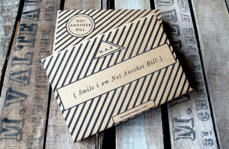 <p>Not Another Bill is a subscription service started by former art director Ned Corbett-Winder. For a fee, NAB will deliver a nicely packaged curio to your doorstep each month.</p>