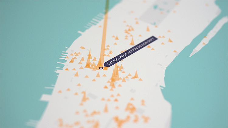 <p>It's actually a personalized map of one's Foursquare check-in data.</p>