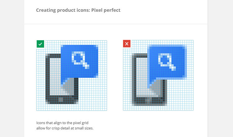 <p>Pixel-level scrutiny of the icon design is encouraged, quite literally.</p>