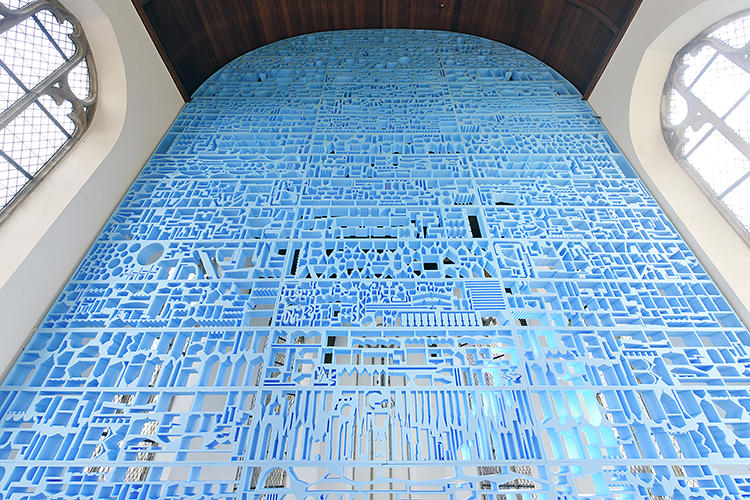 <p>The installation is an inverse on Vacant NL, a project they completed for the Venice Biennale in 2010 that was laid out like a model city.</p>