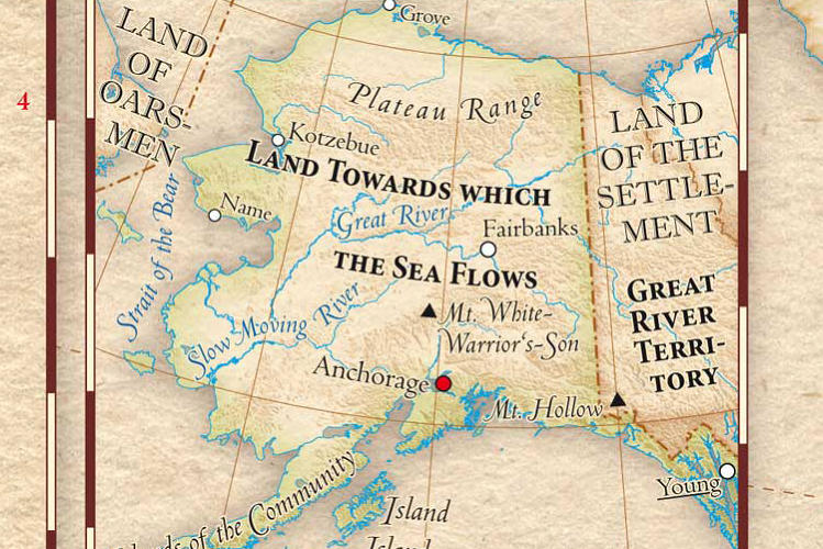 <p>Alaska becomes &quot;Land Towards Which The Sea Flows.&quot;</p>
