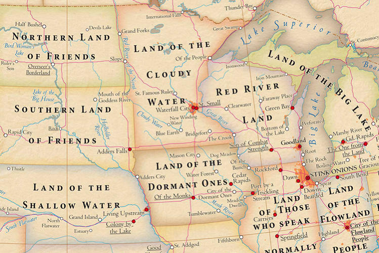 <p>Interestingly enough, North and South Dakota carry the &quot;land of friends&quot; monicker like Texas. Anyone know why? It's one of many historical mysteries that make me realize, while we all use these words every day, very few of us know what they mean.</p>