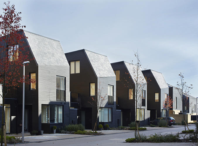 <p>A new housing complex by Alison Brooks Architects, Newhall Be aims to reinvent the suburban neighborhood.</p>