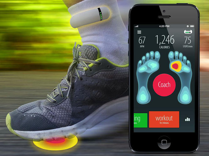<p>And then you can receive real-time data on how your foot is striking the ground.</p>