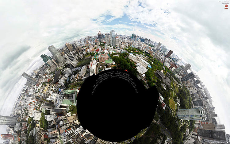 <p>The main advantage of spherical panoramic photography is how it can capture a sprawling landscape in one format while preserving all of its contradictions.</p>