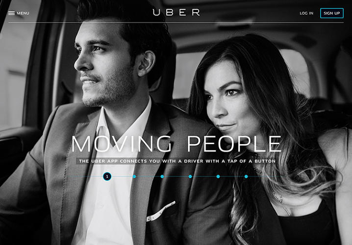 <p>This is the new Uber homepage.</p>
