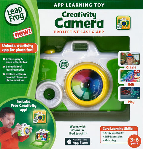 <p>Ideo brought the idea to LeapFrog after they noticed parents handing young children their phones (and the desire for kids to take photos, too).</p>