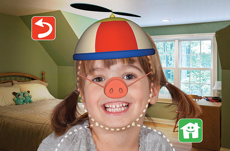 <p>Kids can add fun filters to their images.</p>