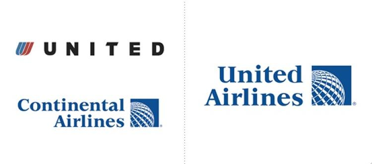 <p>Now for the brands we hated! Checking in at No. 2 is United, which dropped its lovely &quot;U&quot; (the work of design demigod Saul Bass) and adopted the icky logo of Continental, after the two carriers merged earlier this year. Is that a whiffle ball on the right? Vomit.</p>