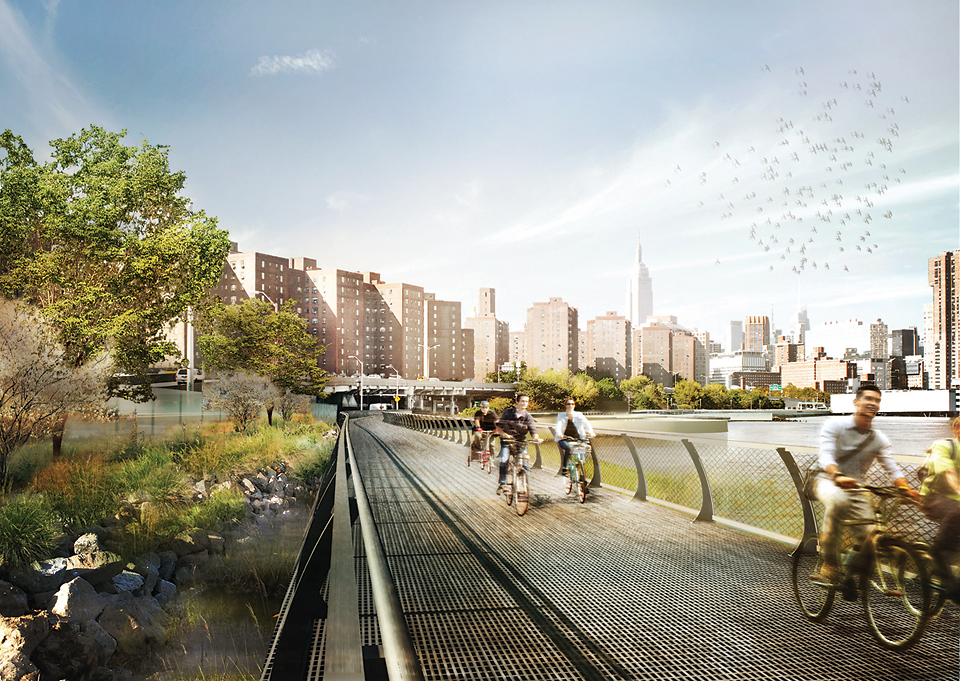 The East River Blueway concept image