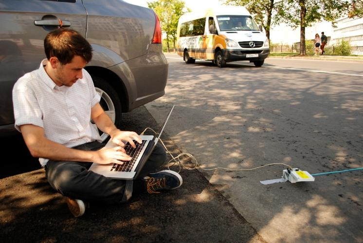 <p>This cheap, open-source device allows citizens to measure and visualize street traffic counts--something that's often done by transit agencies standing around with clipboards. &quot;It's basically a small microcontroller connected to a strip that runs along the ground,&quot; explains Levitas. The device can measure traffic count, traffic rate, and speed.</p>