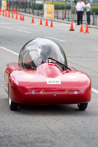 <p>Another winner from Mater Dei High School, the George gasoline-powered vehicle had a best run of 611 mpg.</p>