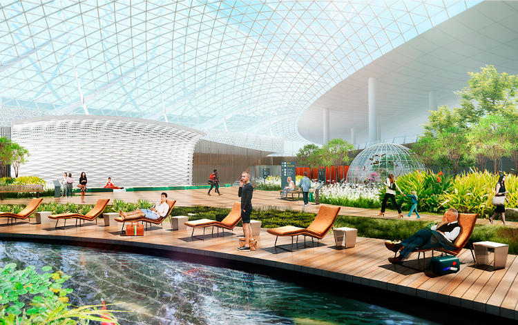 <p>Renderings of the Incheon Airport in South Korea.</p>