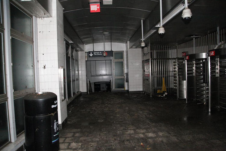 <p>The South Ferry station after pumping.</p>