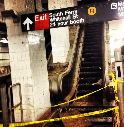 <p>The South Ferry subway station sustained some of the worst damage from Hurricane Sandy.</p>