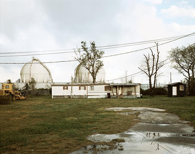 <p>Trailer Home and Natural Gas Tanks, Good Hope Street, Norco, Louisiana, 1998. © Richard Misrach, courtesy of Pace/MacGill Gallery, New York; Fraenkel Gallery, San Francisco; and Marc Selwyn Gallery, Los Angeles.</p>