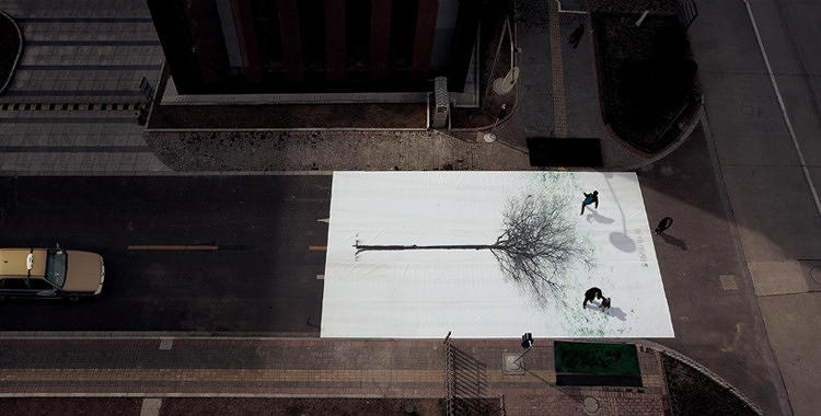 <p>This campaign by <a href=&quot;http://www.fastcoexist.com/1680511/amazing-interactive-street-art-turns-pedestrian-footsteps-into-the-leaves-of-trees&quot; target=&quot;_self&quot;>DDB China Group to create gorgeous trees on the streets of Shanghai</a> is not only a clever way to promote walking over driving, but also a case study in the right kind of guerrilla marketing.</p>