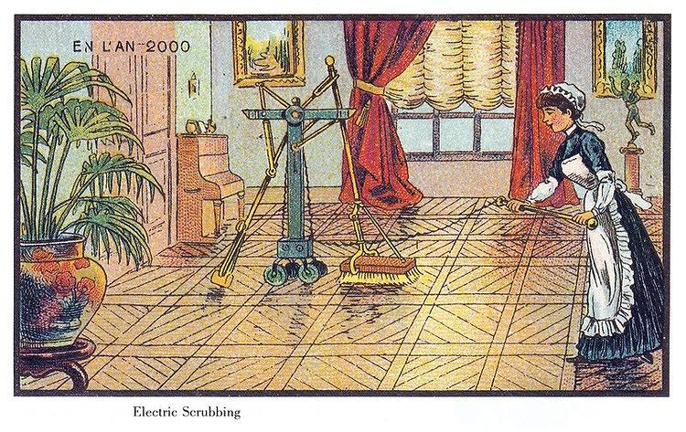 <p>These postcards from France in 1900 show an artistic vision of what they <a href=&quot;http://www.fastcoexist.com/1680400/100-years-ago-french-artists-predicted-the-future-with-eerie-accuracy&quot; target=&quot;_self&quot;>thought the year 2000 would look like, including factory farming, RVs, and even Roombas (seriously).</a></p>