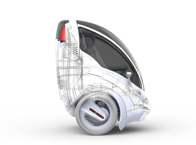 <p>The Citi.Transmitter is a two-wheeled, single seat electric vehicle.</p>