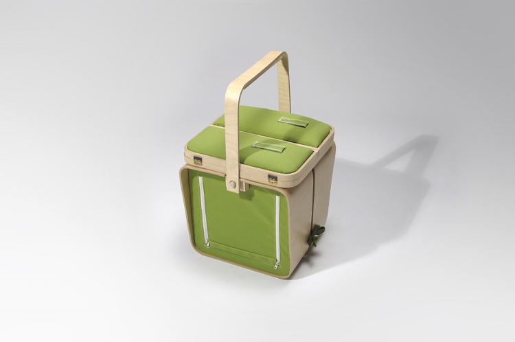 <p>At its most basic, Springtime is a rather cubic looking picnic basket, perfect for carrying to the park.</p>