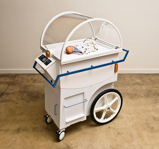 <p>The NeoNurture Incubator, designed to function with car parts as its only internal components.</p>
