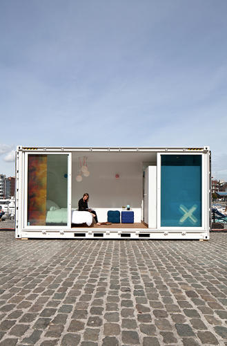 <p>Sleeping Around is a hotel made from shipping containers.</p>