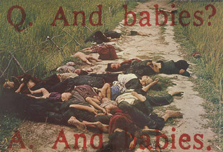 <p>The &quot;And Babies&quot; poster, a classic piece of protest art.</p>
