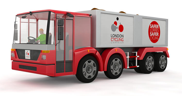 <p>The London Cycling Campaign has created these concept trucks to try to reduce cyclist deaths.</p>