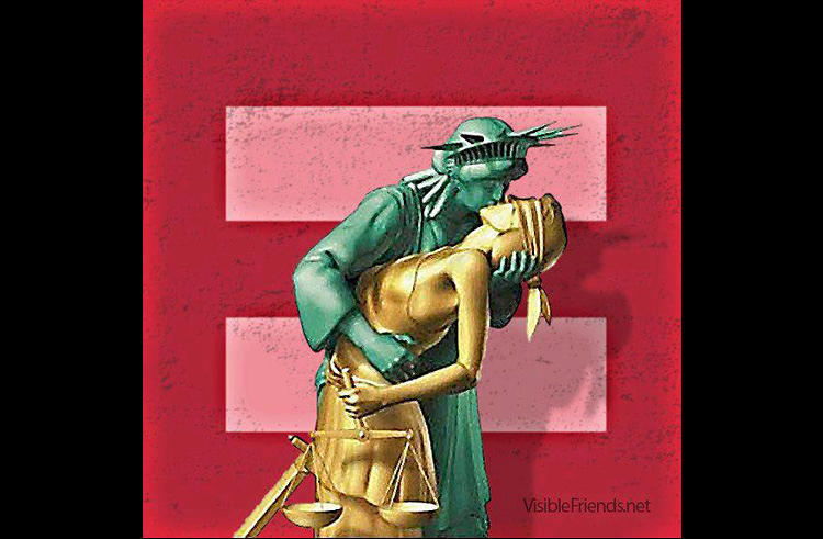 <p>Liberty and Justice for marriage equality.</p>