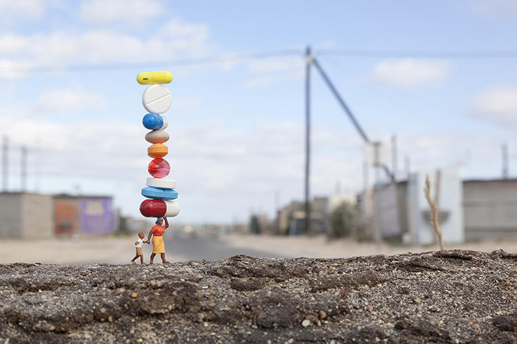 "<p>""Most people only see the installations through my photography,"" Slinkachu says.</p>"