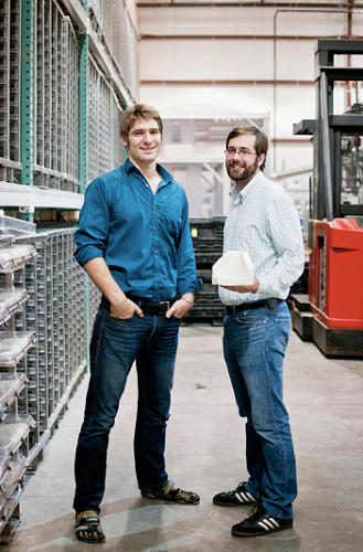 <p>College pals Eben Bayer and Gavin McIntyre established Ecovative while they were students at Rensselaer Polytechnic Institute.</p>