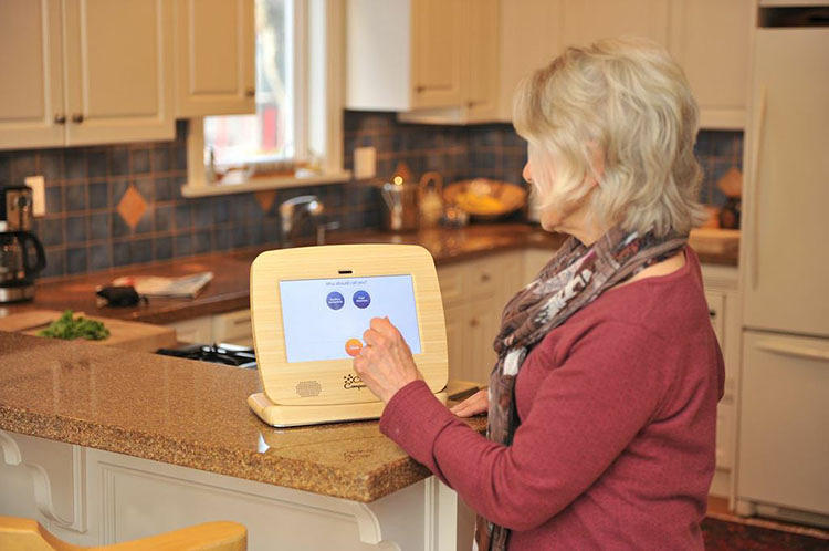 <p>A new tablet called <a href=&quot;http://www.clariscompanion.com/&quot; target=&quot;_blank&quot;>Claris Companion</a> aims to make it easier for old people to use technology, and to make the experience of aging easier--both for the elderly who experience it and for the family members who provide care.</p>