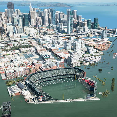 <p>With 25-foot sea level rise.</p>