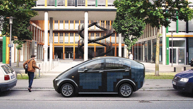 This Solar Car Charges Itself While It's Parked On The Street