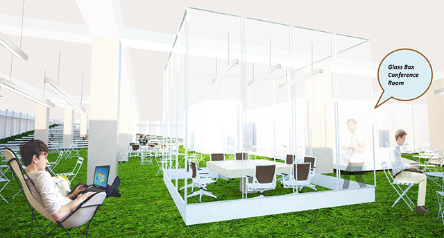 The office of the future could be a park co design for Office design of the future