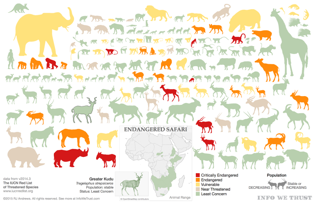 See The 174 Largest African Mammals In One Frightening Infographic ...