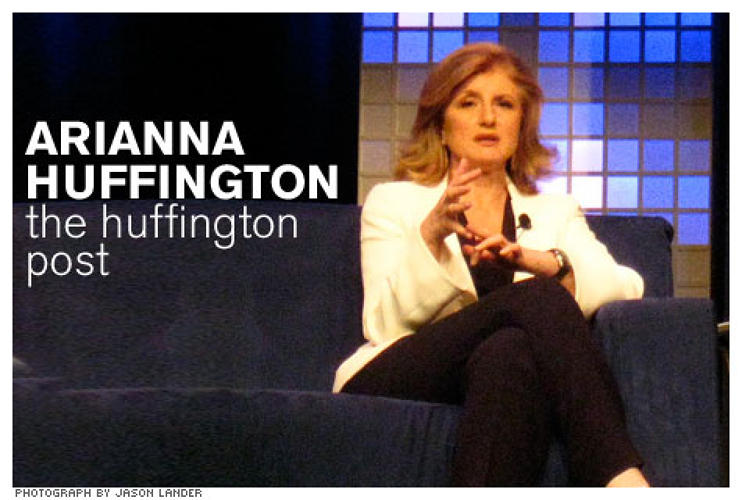 <p><strong>Who she is:</strong> Co-founder and editor in chief of the Huffington Post.</p> <p><strong>What she's done:</strong> Huffington transformed news delivery into a conversation. With posts from hundreds of bloggers, including big name celebrities like Alec Baldwin, Adam McKay and Jamie Lee Curtis, Huffington's site has succeeded in securing reader engagement and commentary on an unprecedented scale.</p>