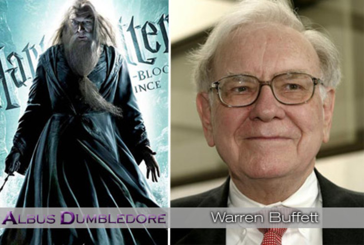 <p>Considered a great and compassionate Wizard, Dumbledore permeates throughout the books and films as a positive influence to Harry and the world. Berkshire Hathaway CEO <strong><a href=&quot;http://www.fastcompany.com/magazine/135/gather-berkshire-hathaway-annual-meeting.html&quot;>Warren Buffett</a></strong> is the wise leader focused on commonsense, homespun values despite his great power. That twinkly quality has endeared him to everyone from Presidents to CEOs to everyday investors. </p>