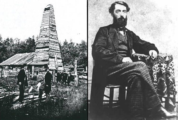 <p>Near <strong>Titusville, Pennsylvania</strong>, Edwin Drake struck black gold in 1859 with a 70-foot well owned by Seneca Oil. This maiden well yielded 25 barrels a day.</p>