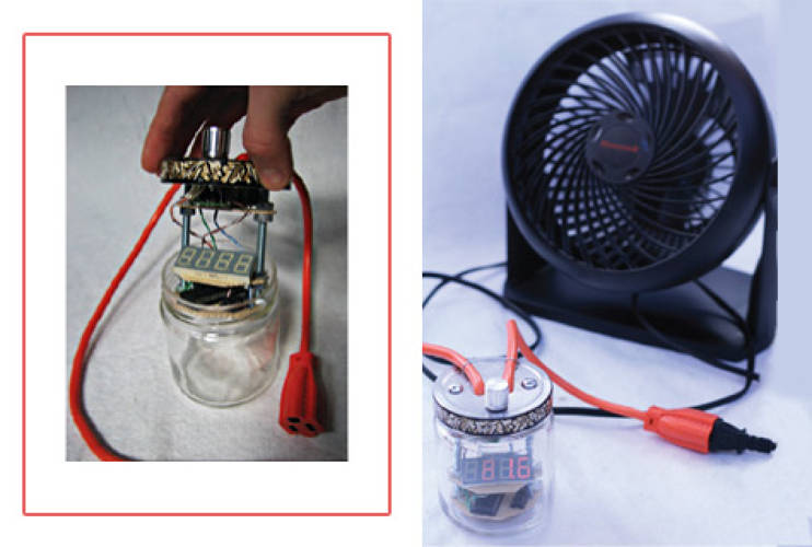 <p>Designed by two third-year students at Washington University in St. Louis, Zach Dwiel and Matt Meshulam, <a href=&quot;http://www.enerjar.net&quot;>EnerJar</a> is a homemade device that measure the power used by household appliances. The system consists of a circuit board, potentiometer (control voltage), LED display, microchip, and standard power cord, all housed within a jar. The tool sits between a wall outlet and household electrical device, calling attention to the appliance's electricity consumption by displaying the watts of power it is using. To build, just visit the EnerJar <a href=&quot;http://www.enerjar.net&quot;>website</a>.</p>