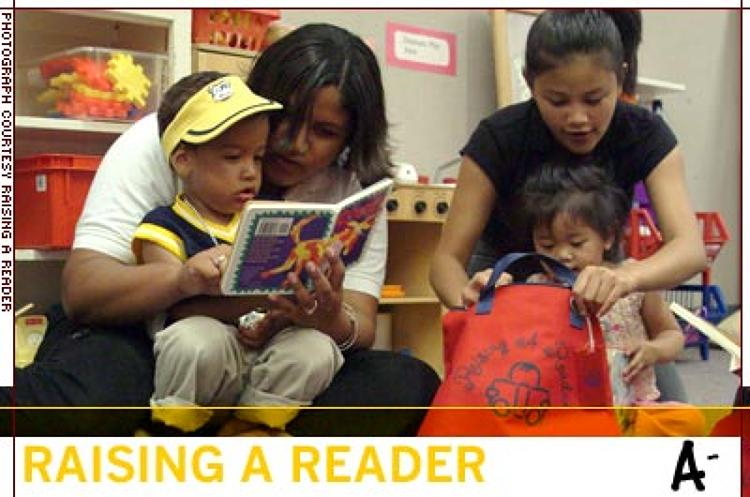 <p>Upon entering kindergarten, Head Start children assisted by Raising a Reader tested twice as high as the national Head Start norm -- and parents report spending 471% more time reading with their kids.</p>