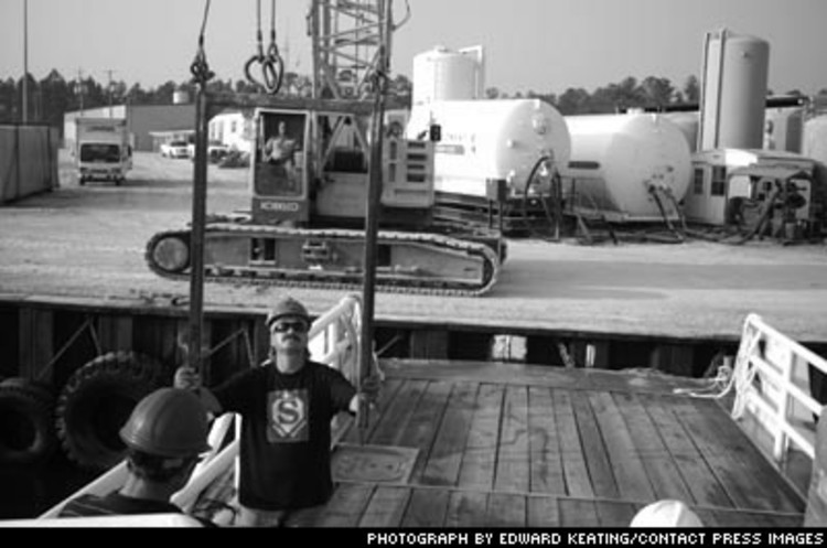 <p>Two weeks after slamming the coast, Katrina continued to disrupt the supply chain. Epic's supply boat waited nine hours for groceries and diving gas.</p>