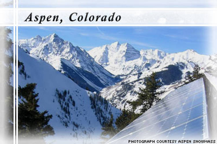 <p> Aspen Skiing Company is the industry's pioneer when it comes to thinking green on the slopes. Some of its most significant environmental initiatives include: </p> <ul> 	<li>Using biodiesel fuel in its snow-grooming machines.</li> 	<li>Making snow seeded with a speck of dust to lessen the amount of water and energy consumed in the process.</li> 	<li>Offsetting 100 percent of its electricity use with renewable energy from wind farms.</li> 	<li>Installing Coke machines that operate on motion sensors to reduce the constant compression cycles.</li> 	<li>Constructing buildings that are heated and cooled by water from a nearby pond.</li> 	<li>Encouraging activism through its own green website where employees have contributed $1 million to date for local environmental causes.</li> </ul>
