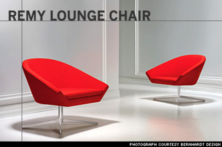 <p>New York City--based Bernett, founder of the design consultancy CDS, said he wanted his lounge chair, suspended over a stainless-steel swivel base, to &quot;sit well and be a graceful and elegant seating solution for both commercial and residential settings.&quot; $1,400</p>